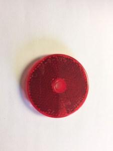 "2"" Round Red Reflector Center Mount NL160007"
