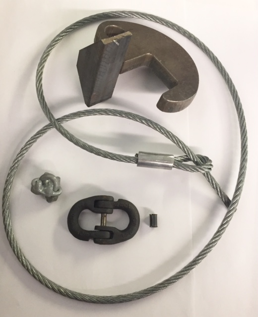 Galbreath Wire Rope Hold Down Kit - Roll Off NL610018