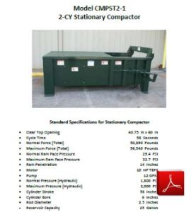 2 CY Compactor