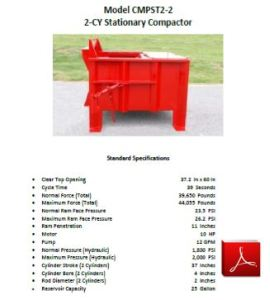 2 CY Compactor (2 Cylinder)