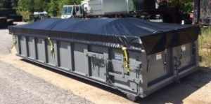 Open Topp Roll-off for special tarp system