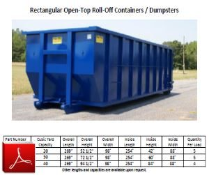 Rectagular Open-top Roll-off Container