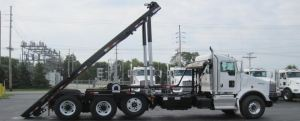 Container Truck with Cable Hoist