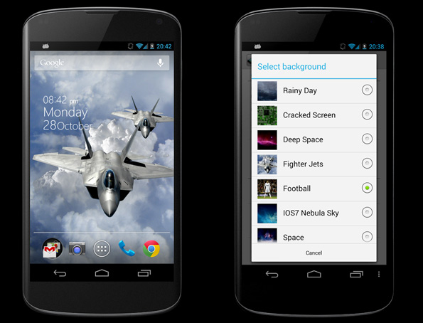 3D Parallax Background App Android Free Download