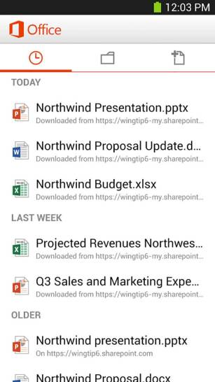 Microsoft Office App Android Free Download