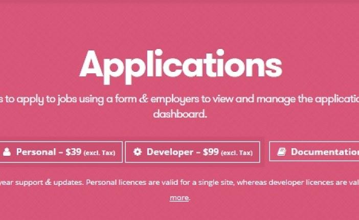 WP Job Manager Applications Plugin WordPress Free Download