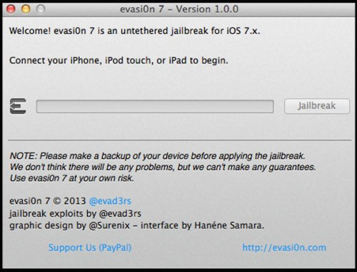 JailBreak iOS 7 App Free Download