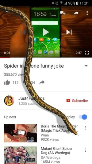 Snake On Screen Hissing Joke App Android Free Download