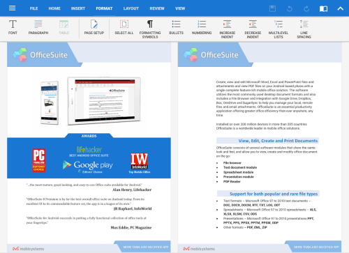 OfficeSuite 9 Pro + PDF Premium App Android Free Download