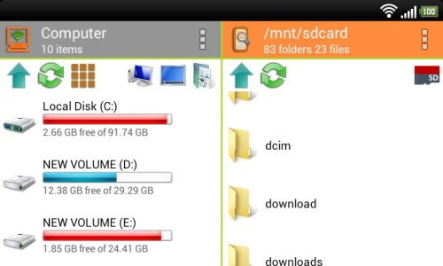WiFi PC File Explorer Pro App Android Free Download
