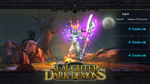 Slaughter Dark Demons Pure epic dark theme Ipa Game iOS Free Download