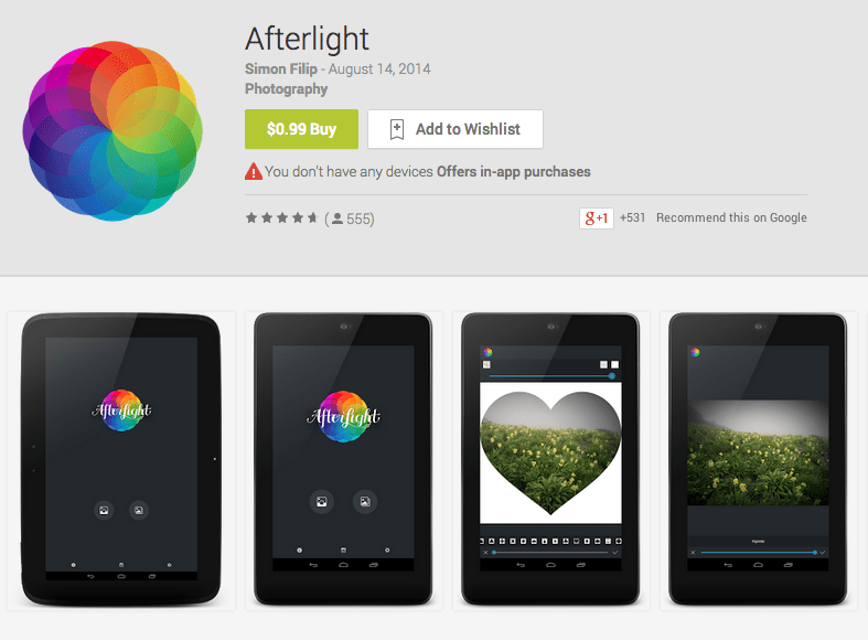 Afterlight App Android Free Download