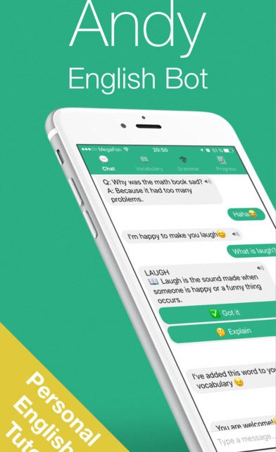 Andy – English Speaking Bot App Android Free Download
