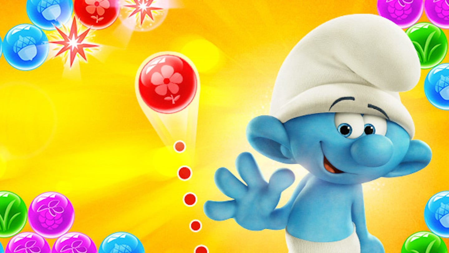 Smurfs Bubble Story Apk Game Android Free Download