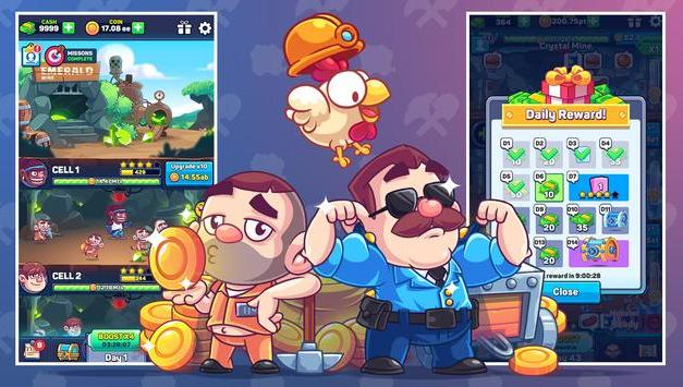Idle Prison Tycoon Gold Miner Clicker Apk Game Android Download
