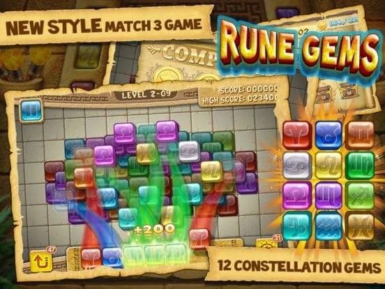 Rune Gems - 3d Solitaire Blast iOS