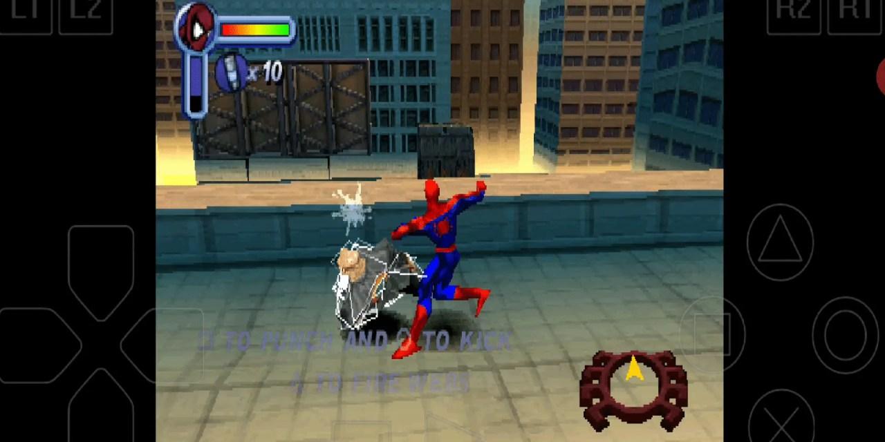 Spider Man PS1 Emulator Android Download (ePSXe)