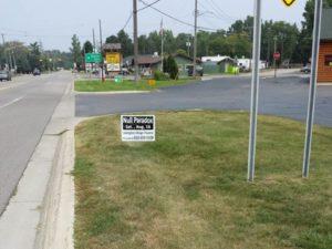 Null Pardox lawn sign, Lakeport Market, Lakeport, Michigan