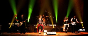 Null Paradox Live at the Lexington Village Theatre. Eric Prater, Chris Mick, Robyn Christine, Dave Ziozios, Rachel Matz, Tom Libertiny. Photo by Jeff Riehl. Hair & MUA by Brandie Brancheau.