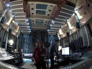 Robyn Christine & Patrick Phillips in The Big Room Null Paradox at Peter Gabriel's Real World Studios, England. Photograph by Tom Libertiny