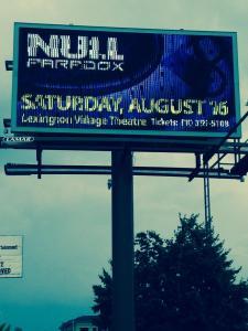 Null Paradox billboard in Port Huron, Michigan. Design by Selena Bartys.