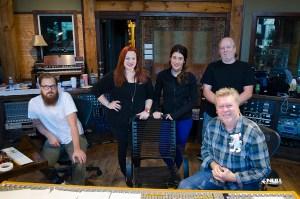 "Null Paradox at Dark Horse Recording Studio. Dave Hagen, Heather Parrish, Lauren Zoeller, Larry Crowe, John ""JR"" Robinson."