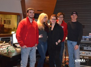 Steven, Evanne, Heather, Marshall, and Tom at Nitrosonic Studios recording Null Paradox vocals