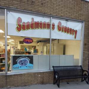 Sandman's Grocery, Harbor Beach, Michigan with Null Paradox. Photography by Tom Libertiny