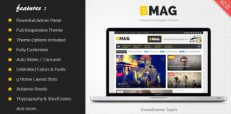 BMAG - Magazine Responsive Blogger Template Free Download