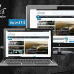 Sevida - Responsive Magazine Blogger Template Free Download