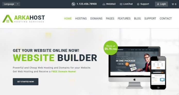 ArkaHost Full HTML Responsive Hosting Template Download