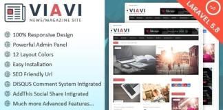 Viavi News, Magazine, Blog Script Free Download