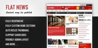 FlatNews Responsive Magazine Blogger Template