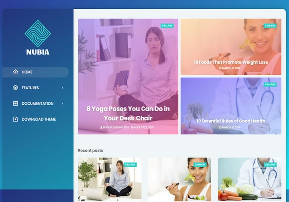 Nubia Blogger Template Premium Free Download