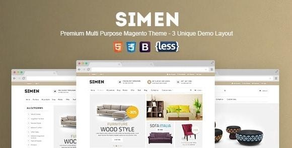 SNS Simen Responsive Magento Theme