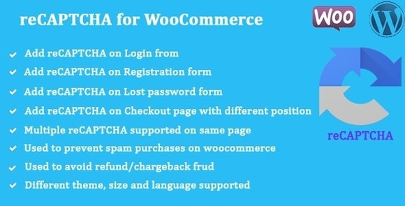 reCaptcha for WooCommerce WordPress Plugin Nulled