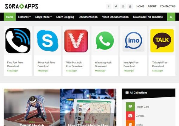 Sora App Premium Blogger Template