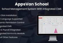 AppsVan School Management System Nulled