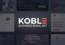 Koble Business Email Set HTML Email Template