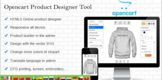 Opencart Custom Product Designer Nulled