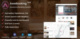 AweBooking Awesome Booking System Nulled