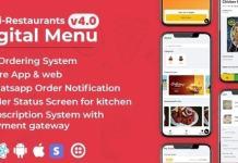 Chef - Multi-restaurant Saas - Contact less Digital Menu Admin Panel with - React Native App Source Code