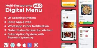 Chef - Multi-restaurant Saas - Contact less Digital Menu Admin Panel with - React Native App Source Code
