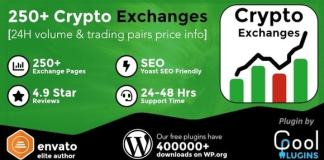 Cryptocurrency Exchanges List Pro Nulled WordPress Plugin