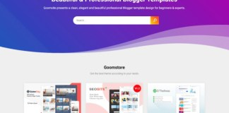 Goomsite Clone Blogger Template Download