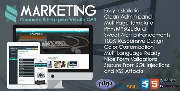 Marketing Corporate and Enterprise Website CMS Nulled