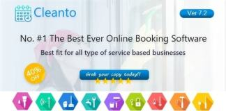 Online Bookings Management System for Maid Services and Cleaning Companies Cleanto Nulled
