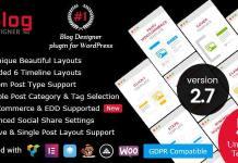 Blog Designer PRO for WordPress Plugin Download