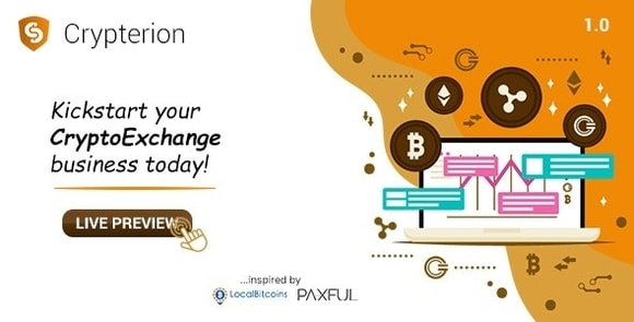 Crypterion Multi-featured Cryptocurrency Exchange Software Nulled