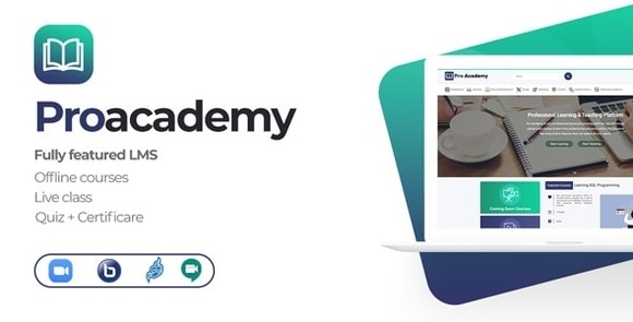 Proacademy LMS and Live Classes Marketplace Nulled Script